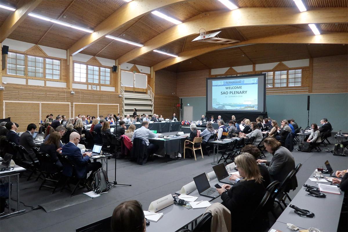 北極評議会高級北極実務者会合の様子